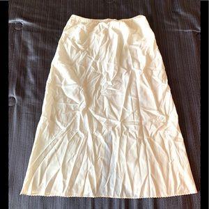 Vintage Skirt Underwear Cream Ivory Waist 13 inche